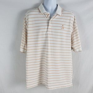 Ping Men UV Golf Shirt XL Dry Fiber Stripe White
